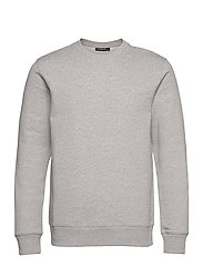 Throw C-neck Sweatshirt - GREY MELANGE