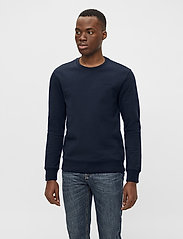 J. Lindeberg - Throw C-neck Sweatshirt - basic-sweatshirts - jl navy - 0