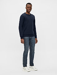 J. Lindeberg - Throw C-neck Sweatshirt - basic-sweatshirts - jl navy - 4