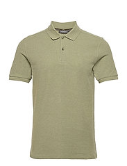 Troy Polo Shirt Seasonal Pique - LAKE GREEN MELANGE