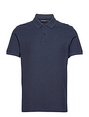 Troy Polo Shirt Seasonal Pique - MIDNIGHT BLUE MELANGE