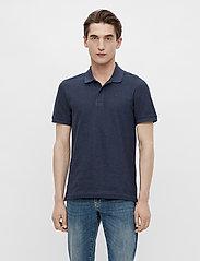 J. Lindeberg - Troy Polo Shirt Seasonal Pique - kurzärmelig - midnight blue melange - 0