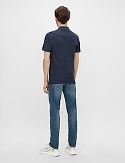 J. Lindeberg - Troy Polo Shirt Seasonal Pique - kurzärmelig - midnight blue melange - 3