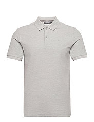Troy Polo Shirt Seasonal Pique - STONE GREY MELANGE