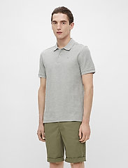 J. Lindeberg - Troy Polo Shirt Seasonal Pique - kurzärmelig - stone grey melange - 0
