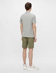 J. Lindeberg - Troy Polo Shirt Seasonal Pique - kurzärmelig - stone grey melange - 3