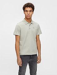 J. Lindeberg - Miles Jersey Polo Shirt - kurzärmelig - mid grey - 0