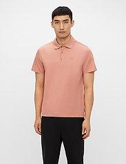J. Lindeberg - Miles Jersey Polo Shirt - kurzärmelig - rose coppar - 0