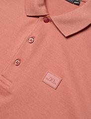 J. Lindeberg - Miles Jersey Polo Shirt - kurzärmelig - rose coppar - 3