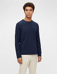 J. Lindeberg - Charlie Long Sleeve T-shirt - basic t-shirts - jl navy - 0