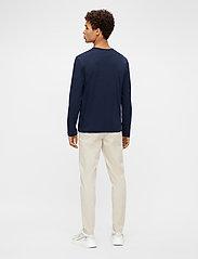 J. Lindeberg - Charlie Long Sleeve T-shirt - basic t-shirts - jl navy - 3