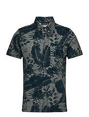 Brand Printed Polo Shirt - JL NAVY