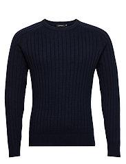 Jace-Contrast knit - JL NAVY