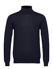 Lyd Merino Turtleneck Sweater - JL NAVY