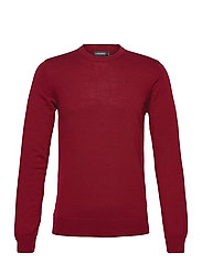 Lyle Merino Crew Neck Sweater - CHILI RED