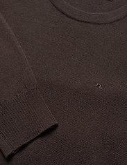 J. Lindeberg - Lyle Merino Crew Neck Sweater - rundhals - dark brown - 2