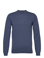 Lyle Merino Crew Neck Sweater - EGYPTIAN BLUE MELANGE