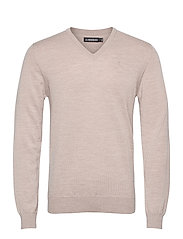 Lymann Merino V-Neck Sweater - SAND BEIGE