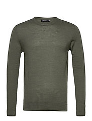 Newman Merino Crew Neck - LAKE GREEN MELANGE
