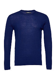 Newman Merino Crew Neck - MIDNIGHT BLUE