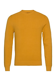 Andy Structure C-Neck Sweater - GOLDEN ORANGE