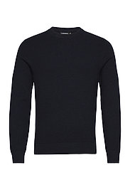Andy Structure C-Neck Sweater - JL NAVY