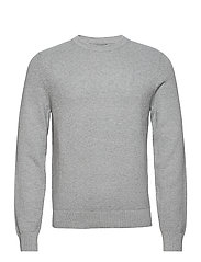 Andy Structure C-Neck Sweater - STONE GREY MELANGE