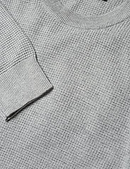 J. Lindeberg - Andy Structure C-Neck Sweater - basic-strickmode - stone grey melange - 6