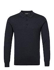 Rowan Cotton Silk LS Polo - JL NAVY