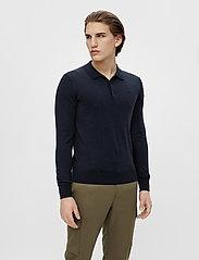 J. Lindeberg - Rowan Cotton Silk LS Polo - langärmelig - jl navy - 0