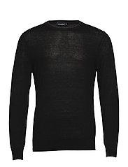 Lyle Linen Sweater - BLACK