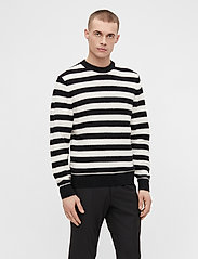 J. Lindeberg - Rico Striped Structure Sweater - rundhals - black - 0