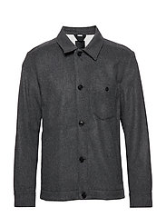 Dolph-Flat Wool - DARK GREY MELANGE