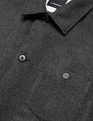 J. Lindeberg - Dolph-Flat Wool - chemises basiques - dark grey melange - 2