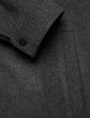 J. Lindeberg - Dolph-Flat Wool - chemises basiques - dark grey melange - 3