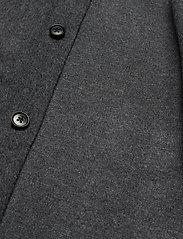 J. Lindeberg - Dolph-Flat Wool - chemises basiques - dark grey melange - 4