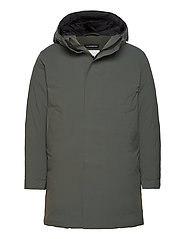 Active Down Parka - DK GREEN/SILVER