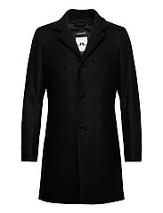 Holger Compact Melton Coat - BLACK