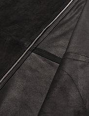 J. Lindeberg - Jonah Zip Suede overshirt - lederjacken - black - 6