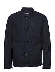 Eric Cotton Linen Jacket - JL NAVY