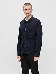 J. Lindeberg - Eric Cotton Linen Jacket - oberteile - jl navy - 0