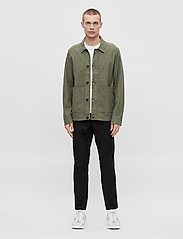 J. Lindeberg - Eric Cotton Linen Jacket - oberteile - lake green - 4