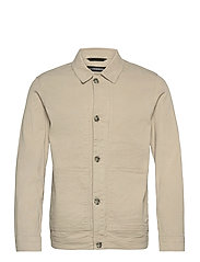 Eric Cotton Linen Jacket - SAND GREY