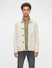 J. Lindeberg - Eric Cotton Linen Jacket - oberteile - sand grey - 0