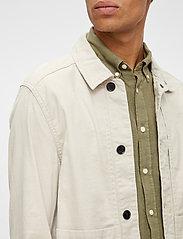 J. Lindeberg - Eric Cotton Linen Jacket - oberteile - sand grey - 5