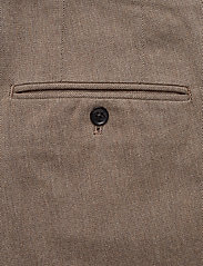 J. Lindeberg - Chaze Flannel Twill Pants - anzugshosen - wood brown - 4