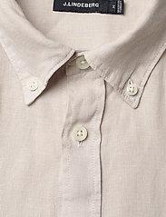 J. Lindeberg - Fredrik BD-Clean Linen - chemises basiques - cloud grey - 2