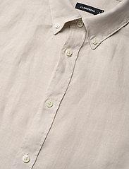 J. Lindeberg - Fredrik BD SS-Clean Linen - chemises basiques - cloud grey - 2