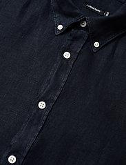 J. Lindeberg - Fredrik BD SS-Clean Linen - chemises basiques - jl navy - 2