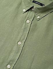 J. Lindeberg - Fredrik BD SS-Clean Linen - chemises basiques - sage green - 3